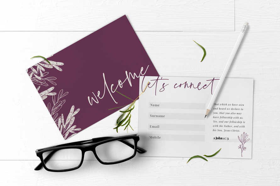 Welcome & Connect card