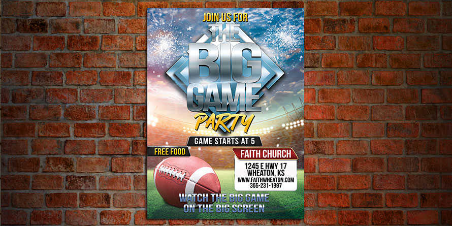 The Big Game Flyer