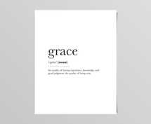 Grace Definition Digital Print