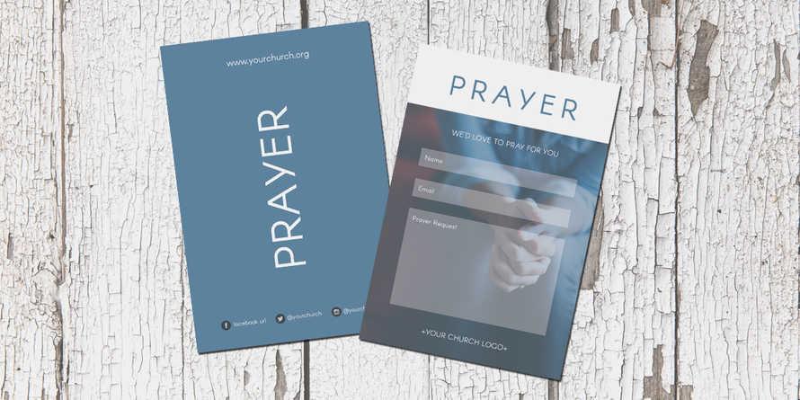 Photo Prayer Connection Card