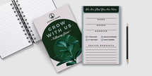 Grow With Us - Connection Card