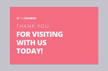Thank You For Visiting Connection Card