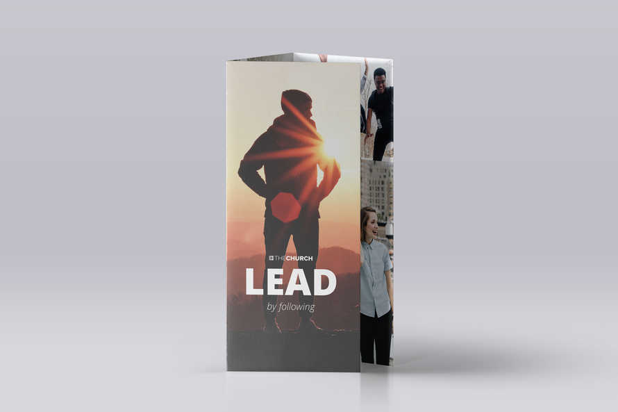 Lead by Following Trifold Brochure Template