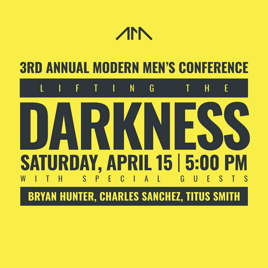 Modern Man Conference Details Social Media Graphics