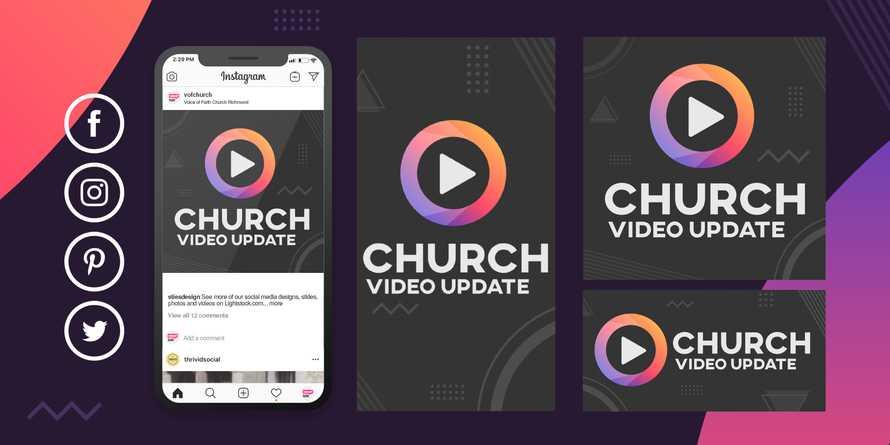 Coronavirus COVID-19 church pastor video update social media