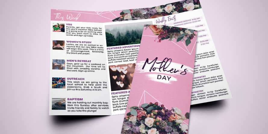 Mother's Day Bouquet trifold