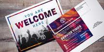 Welcome Worship 5x7 postcard