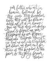 Lord's Prayer 16x20 8x10 print