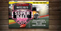 Super Ball Invite Postcard
