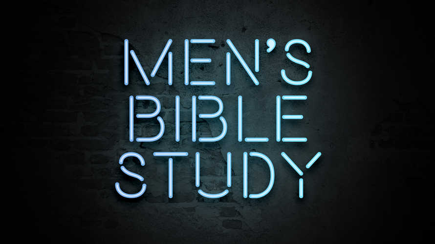 Men's Bible Study Neon Slides