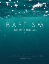 Baptism Announcement Flyer Social Media Postcard Slide Design