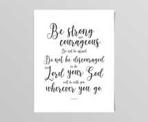 Be Strong - Joshua 1:9 Digital Print