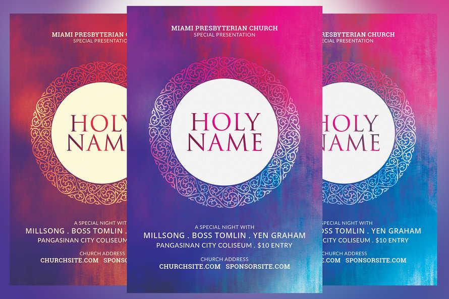 Holy Name Minimal Church Flyer