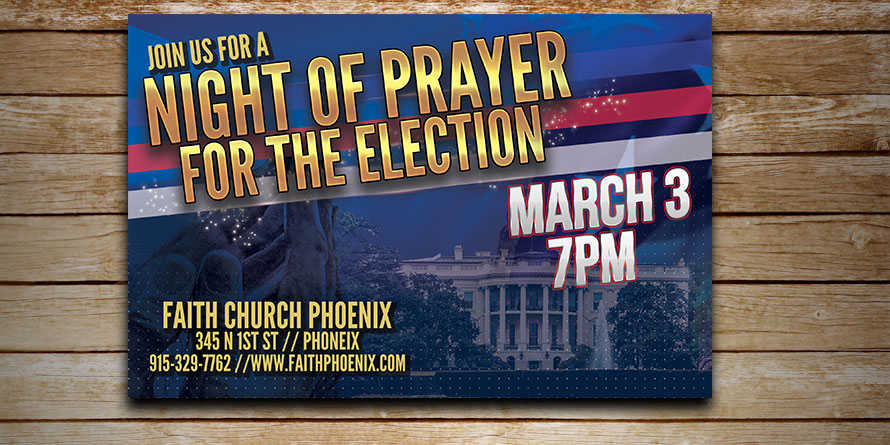 Night of Prayer Postcard