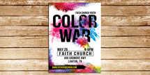 Color War Flyer