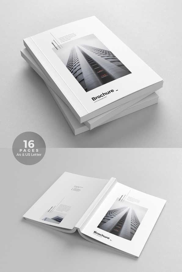 Clean Minimal Bi-Fold Brochure Template