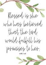 Luke 1:45 print