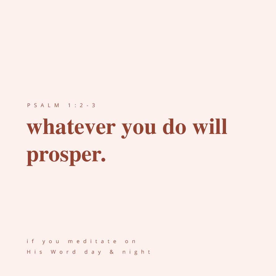 Whatever you do will prosper