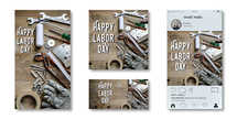 labor day social graphic with tools