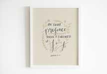 Hand lettered Digital Print - Psalm 16:11