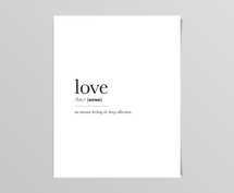 Love Definition Digital Prints