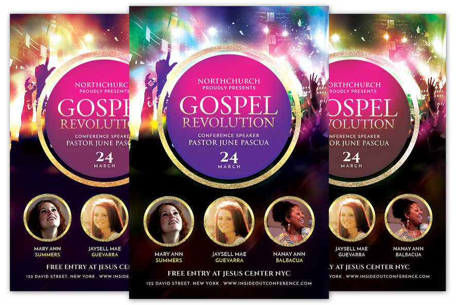 Gospel Revolution Church Flyer