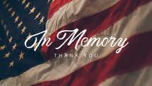 In Memory - Memorial Day