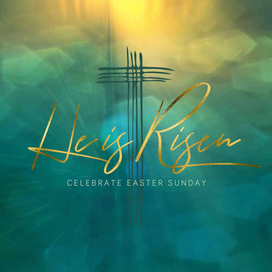 He is Risen Easter Social Media Set