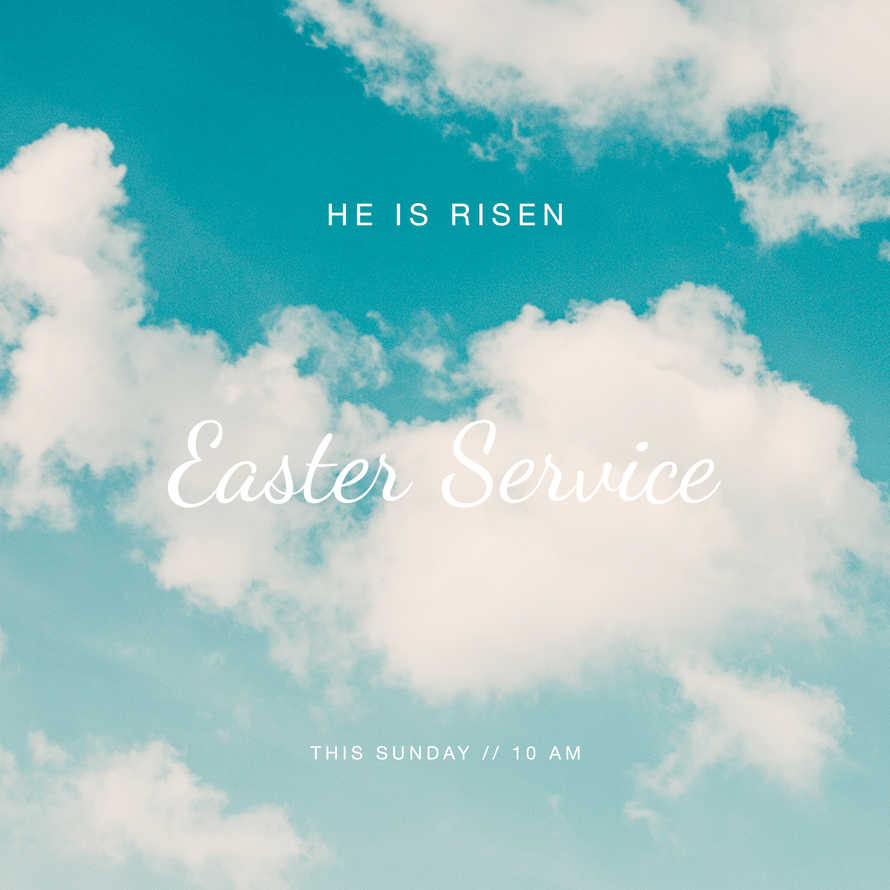 Easter Social Graphics. He is Risen.