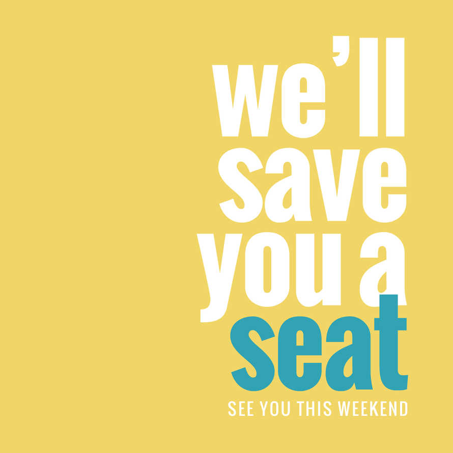 We'll Save You a Seat Social Graphic Set