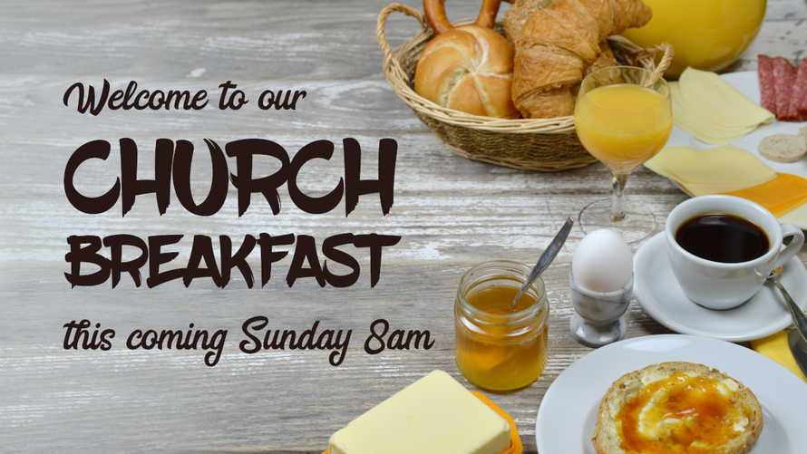 church breakfast slides