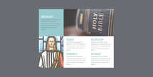 Aqua Church Trifold Letter Brochure