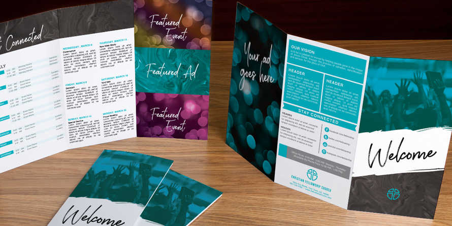 Welcome Paint Trifold Brochure