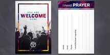 Welcome Worship Connection Card set