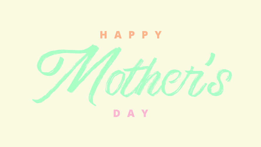 Happy Mother's Day Slide Graphic
