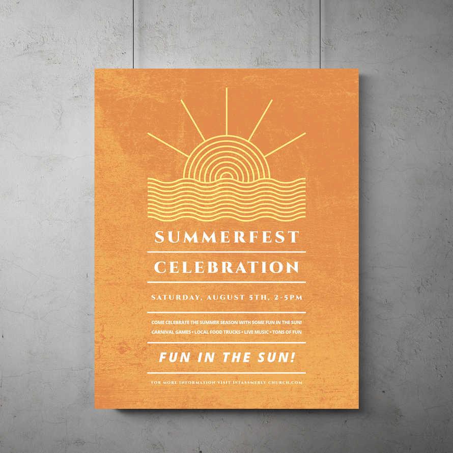 Summerfest Celebration Flyer Template