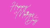 Happy Mother's Day Floral Script Slide