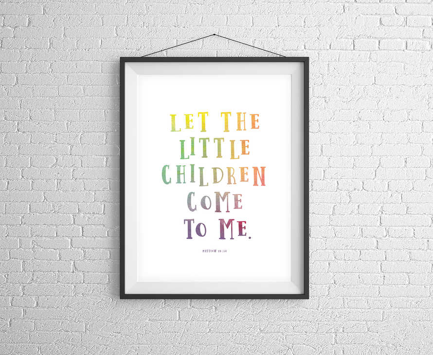 Let The Little Children Come To Me - Digital Print