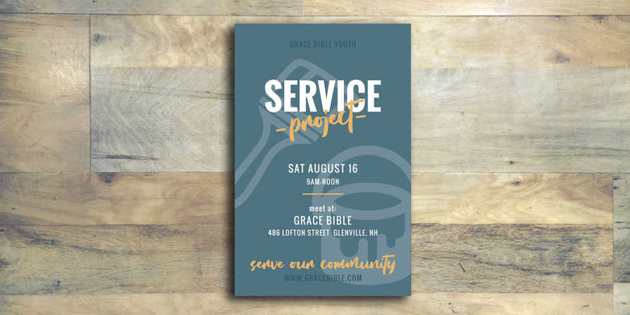 Service Project Flyer