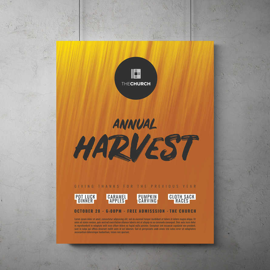 Fall Harvest Flyer Template