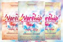 Worship Thru a Canvas Church Flyer