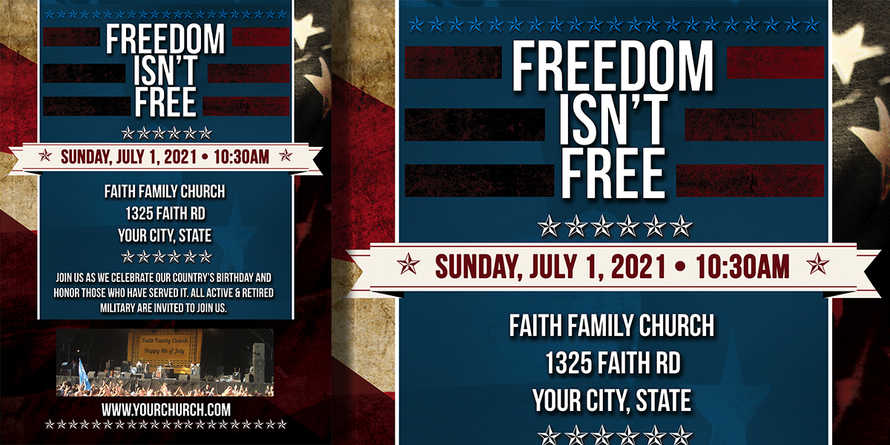 Freedom Isn't Free -  4th of July Flyer