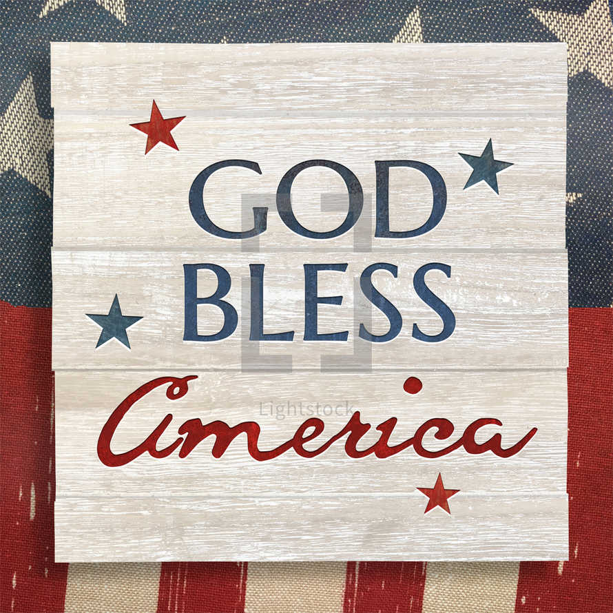 4th of July God Bless America Social Graphic