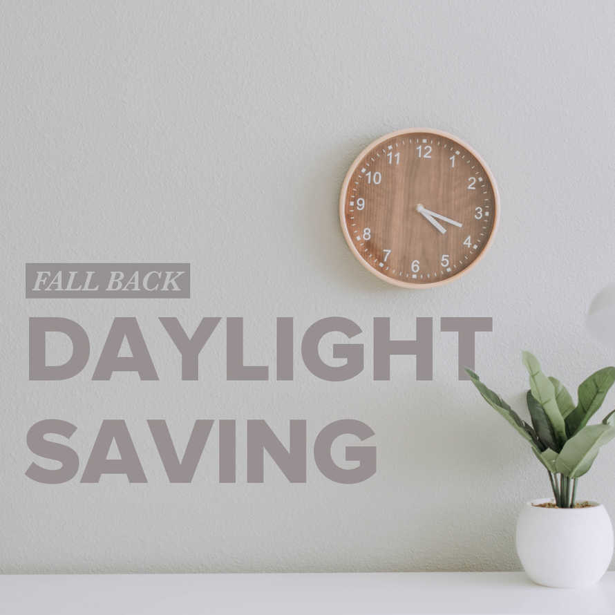 Daylight Savings Fall Back Social Graphic
