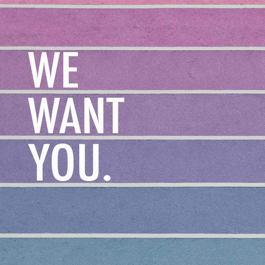 We Want You social graphic