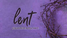 half crown of thorns on purple background for lent