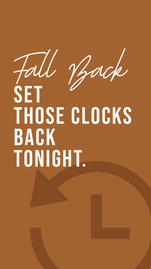 Fall Back Instagram
