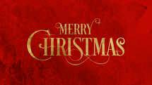 Merry Christmas Gold Slide