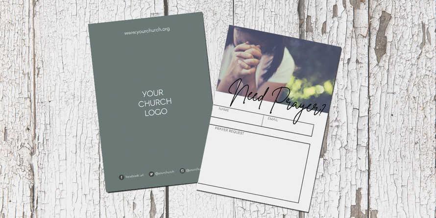 Prayer Script Connection Card Set