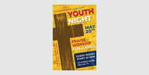 Youth Night Church Flyer